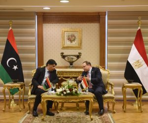 النائب العام يناقش مع نظيره الليبى مكافحة جميع الجرائم المنظمة والاتجار بالبشر (فيديو وصور)