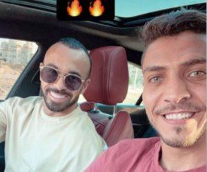 """محمد شريف مهاجم الاهلي ينشر فيديو لتناول """"افشه """" الافطار علي عربة فول ويعلق """"بياكل بتنجان"""" """"صور"""""""