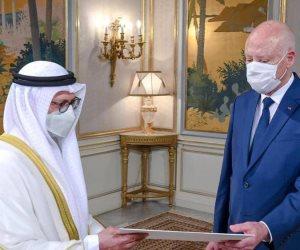 الإمارات تؤكد مواصلة دعمها الكامل لتونس.. قيس سعيد يتسلم رسالة من الشيخ خليفة بن زايد