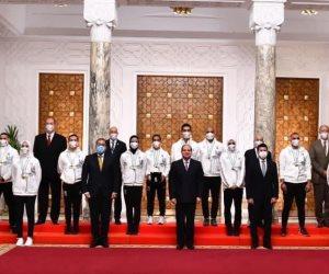 الرئيس السيسى يؤكد دعمه الكامل لتوفير كل الإمكانات اللازمة لأبطال مصر الرياضيين