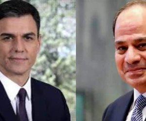 الرئيس السيسي يتلقى اتصالا هاتفيا من بيدرو سانشيز رئيس الحكومة الإسبانية