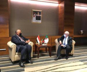 وزير الخارجية يبحث مع نظيره الجزائري التنسيق حيال القضايا الإقليمية المتلاحقة