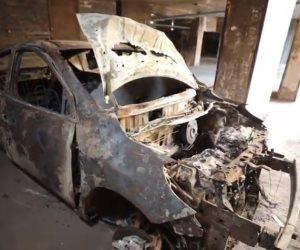 """فيديو جديد لـ """"وزارة الداخلية"""" يكشف كيف تخلص الجناة من السيارة بعد خطف طفل المحلة"""