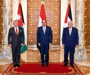 """الهدف إحياء عملية السلام.. تفاصيل القمة المصرية الفلسطينية الأردنية في """"الاتحادية"""""""