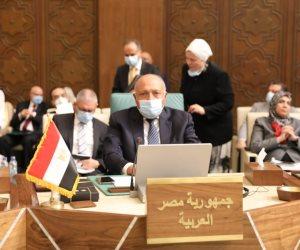 رسائل مهمة لوزير الخارجية أمام مجلس الجامعة العربية... التدخلات الأجنبية تعمل دون كلل لسرقة مواردنا