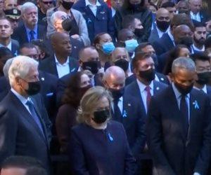 بايدن وأوباما وكلينتون يزورون موقع هجمات 11 سبتمبر
