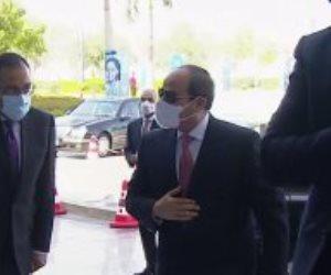 الرئيس السيسى يصل العاصمة الإدارية للمشاركة فى إطلاق تقرير التنمية البشرية