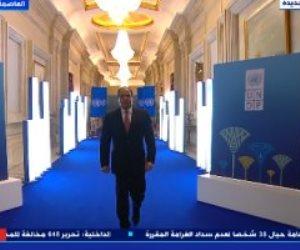 بدء فعالية إطلاق تقرير التنمية البشرية فى مصر 2021 بحضور الرئيس السيسى