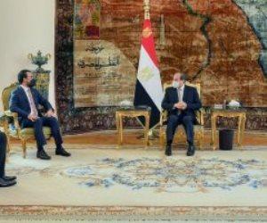 الرئيس السيسى يؤكد رفض مصر كافة التدخلات الخارجية فى شئون العراق