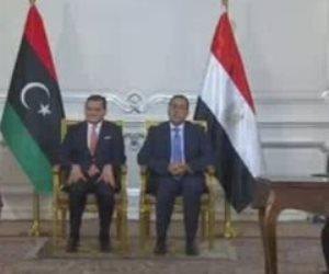 رئيس الوزراء ونظيره الليبي يشهدان توقيع عددا من بروتوكولات التعاون
