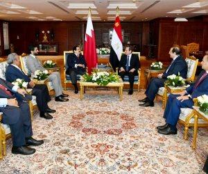 الرئيس السيسى يبحث مع ملك البحرين تطورات سد النهضة بعد بيان مجلس الأمن