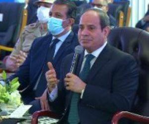 الرئيس السيسي: زيادة إيرادت قناة السويس بنحو 11 % عن العام الماضى