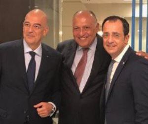 وزراء خارجية مصر وقبرص واليونان يبحثون دفع التعاون بين البلدان الثلاثة