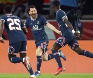 بعد أداء سئ في الشوط الأول .. ميسي يسجل أول أهدافه بقميص باريس سان جيرمان أمام مانشستر سيتى في الدقيقة 74