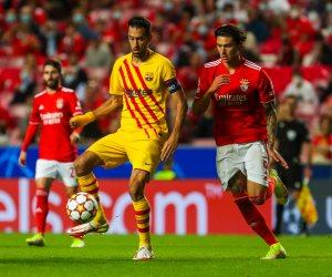 """في دوري أبطال أوروبا.. برشلونة """" المترنح """"  يتأخر أمام بنفيكا بهدف فى الشوط الأول"""