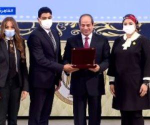 الرئيس السيسي يشهد تكريم شهداء الواجب من رجال القضاء.. ويوجه التحية لـ«عدلي منصور»