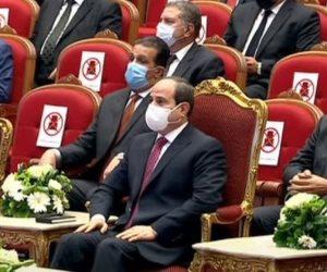 الرئيس السيسى: تطوير المنظومة القضائية تم على عدة محاور لتحقيق العدالة الناجزة