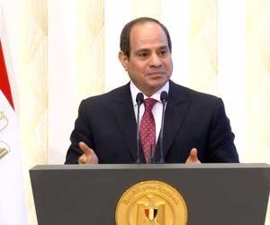 الرئيس السيسي: عدم التدخل في شئون القضاء قاعدة ذهبية.. وتعلمت من شقيقي دور ومكانة العدالة