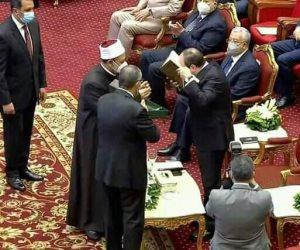 """تعرف على مواصفات """"مصحف الأزهر"""" الذي أهداه شيخ الأزهر للرئيس السيسي في احتفالية ذكرى المولد النبوي"""