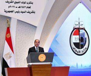 الرئيس السيسي: بناء الوعي وتصحيح الخطاب الديني مسئولية تضامنية