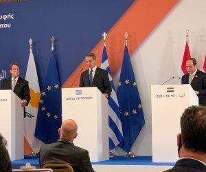 الرئيس القبرصى: القمة الثلاثية لا تستهدف أي طرف ولا تقصي أحدًا