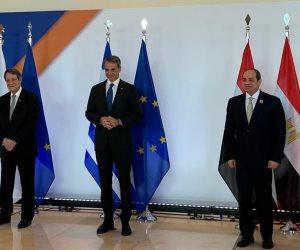 بعد قليل..مؤتمر صحفى للرئيس السيسى ونظيره القبرصى ورئيس وزراء اليونان