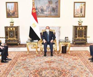 الرئيس يعرب عن تطلع مصر لتطوير علاقات التعاون المستقبلية مع الاتحاد الاوروبي وصياغة فهم مشترك بين الجانبين