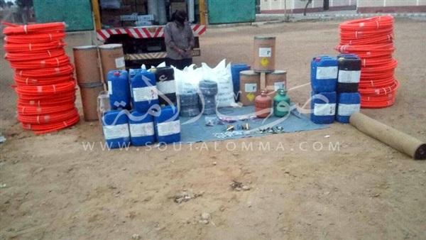 المتحدث العسكري: ضبط مواد كميائية خطرة ودوائر كهربية بوسط سيناء (صور)