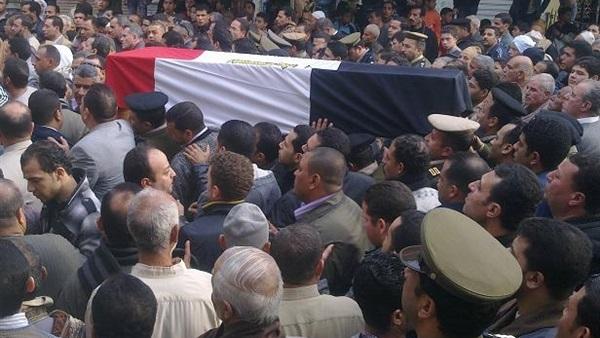 أهالي القليوبية يشيعون جثمان شهيد سيناء