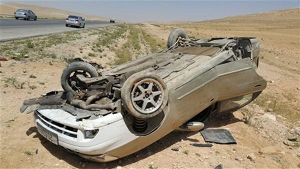 انقلاب سيارة عضو بـ«النواب» على الطريق الصحراوي
