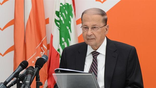 الرئيس اللبناني: لابد من تحقيق السلام الشامل للقضية الفلسطينية